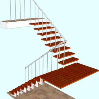Металлические лестницы с площадками
